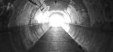 City pedestrian tunnel