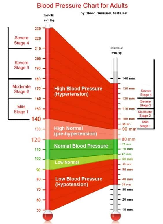 Blood Pressure Chart For Adults