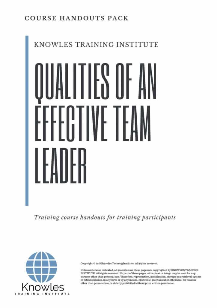 qualities of a good team leader - Nisatasj-plus