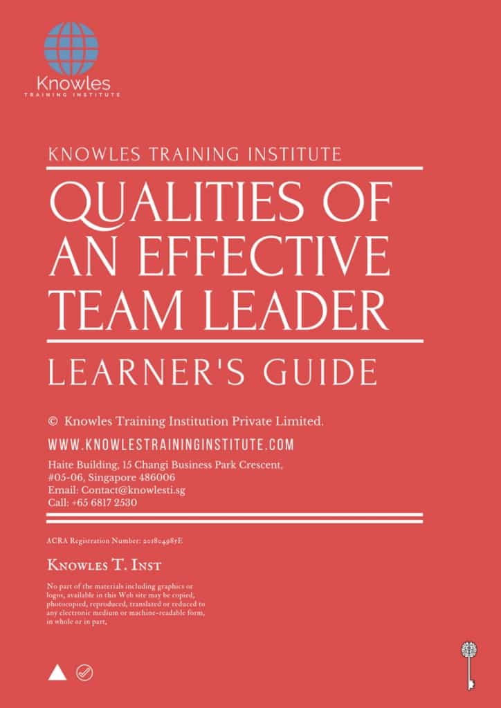 Qualities Of An Effective Team Leader Training Course In Singapore