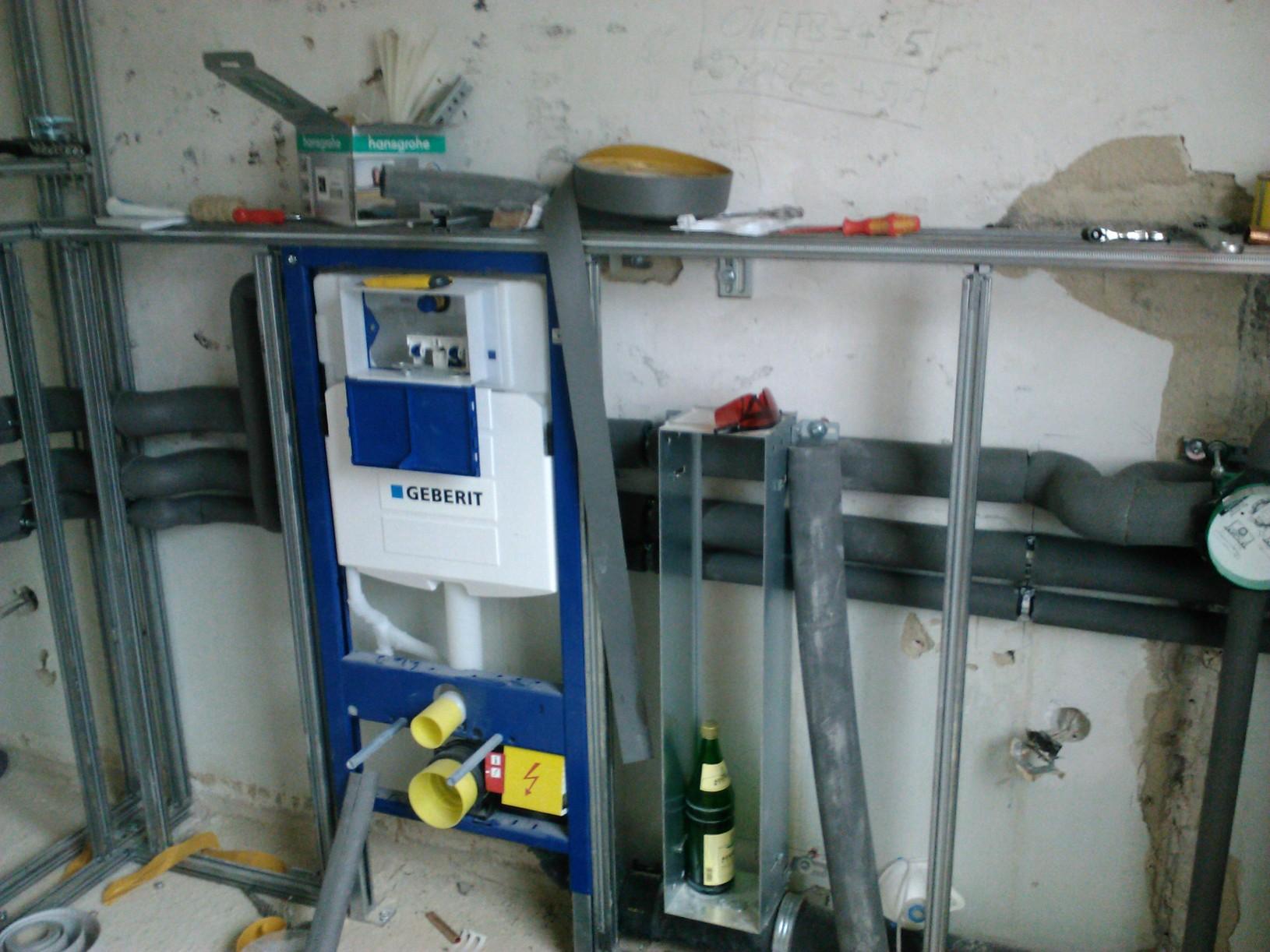Wand Wc Verkleiden Anleitung Badezimmer Ausbauen Badfliesen