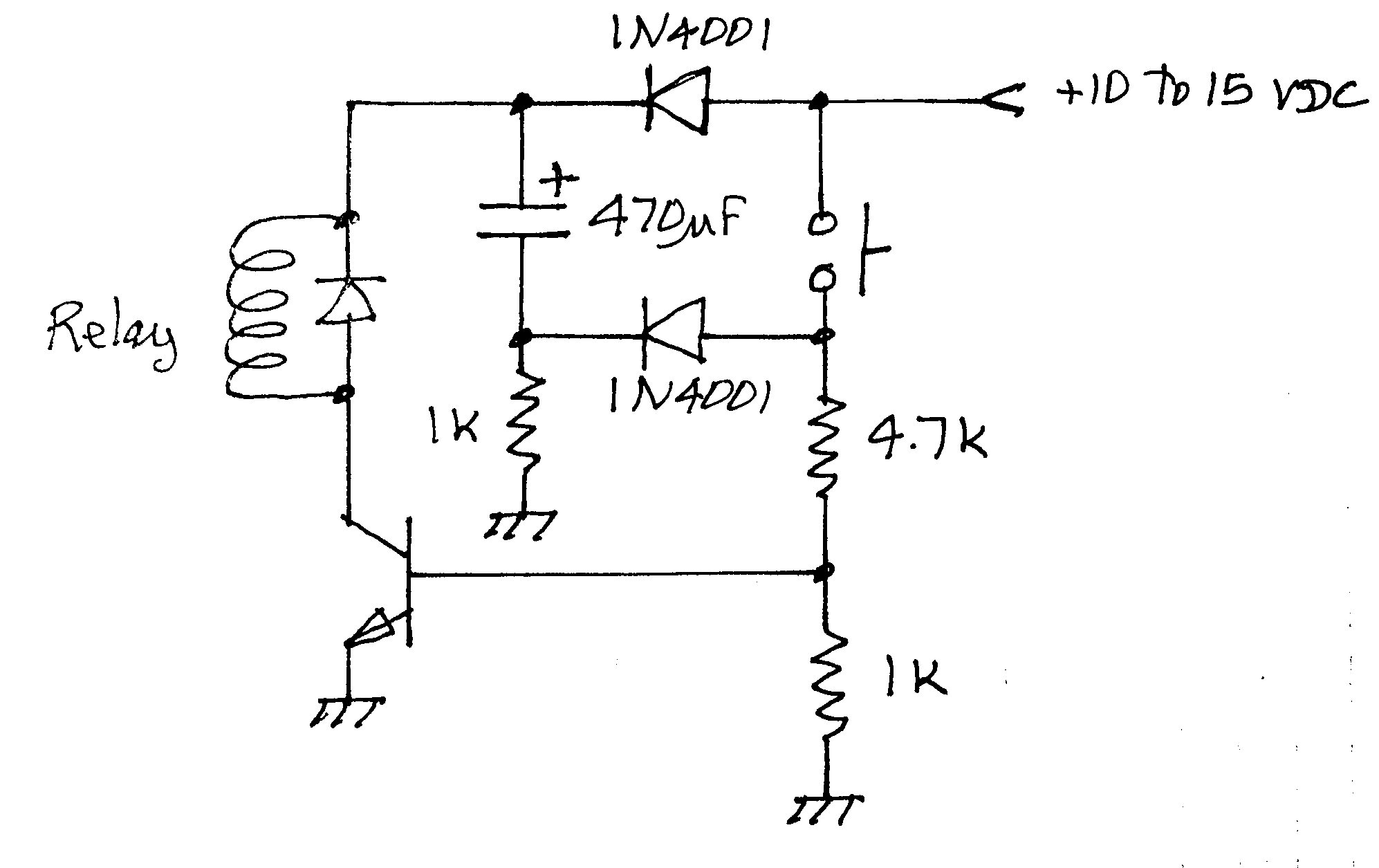 wiring relay with diode