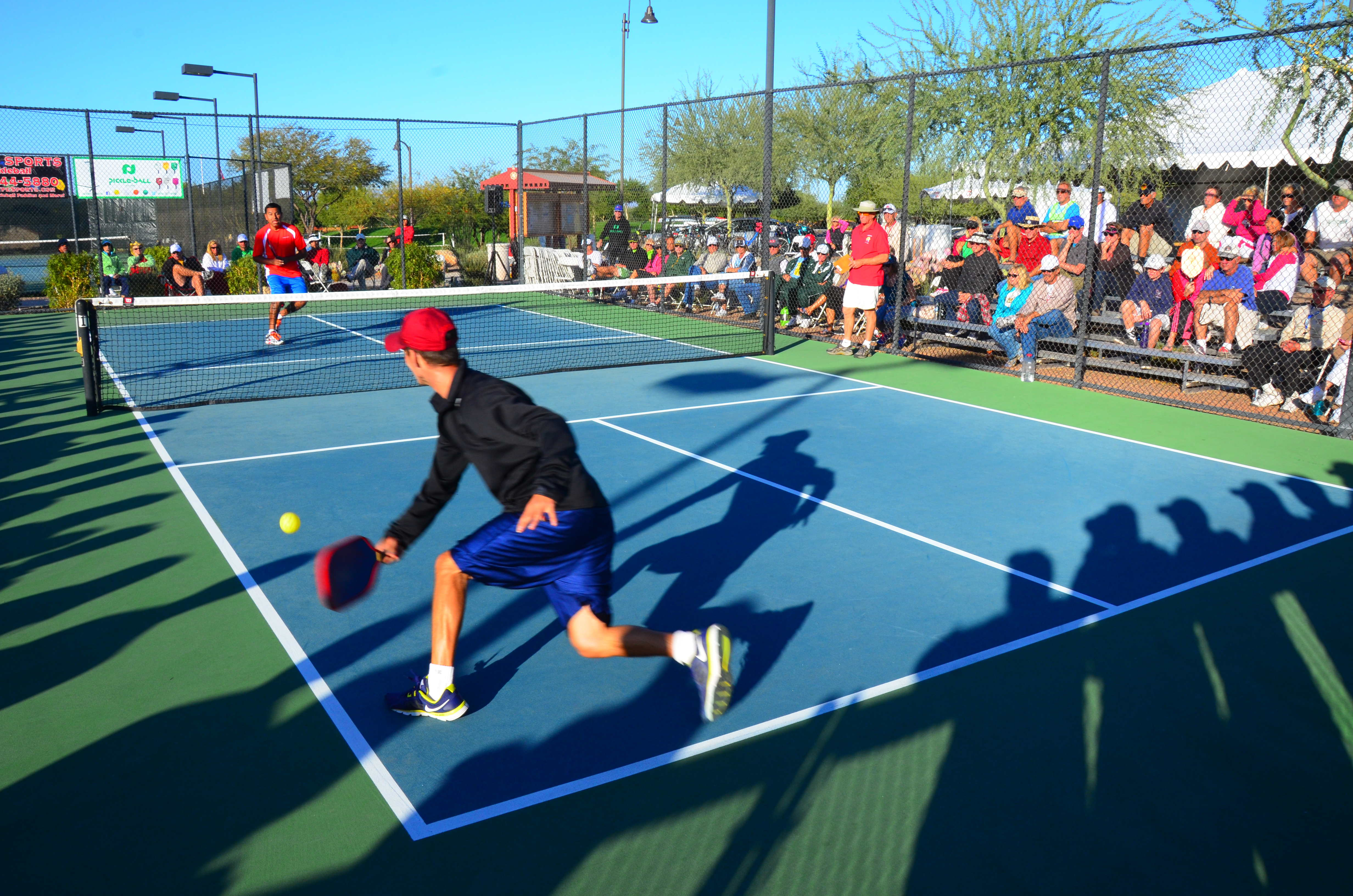 Indoor pickleball adult program i tennis with koa sports for Sport court cost per square foot