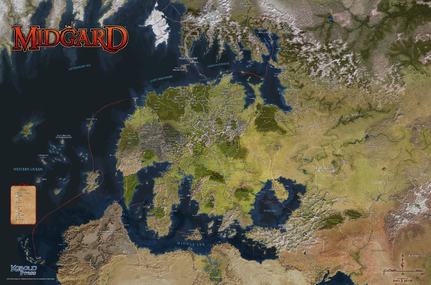 Poster Of The World Midgard And Zobeck Poster Map 2018 Rolled By Anna Meyer And Alyssa Faden