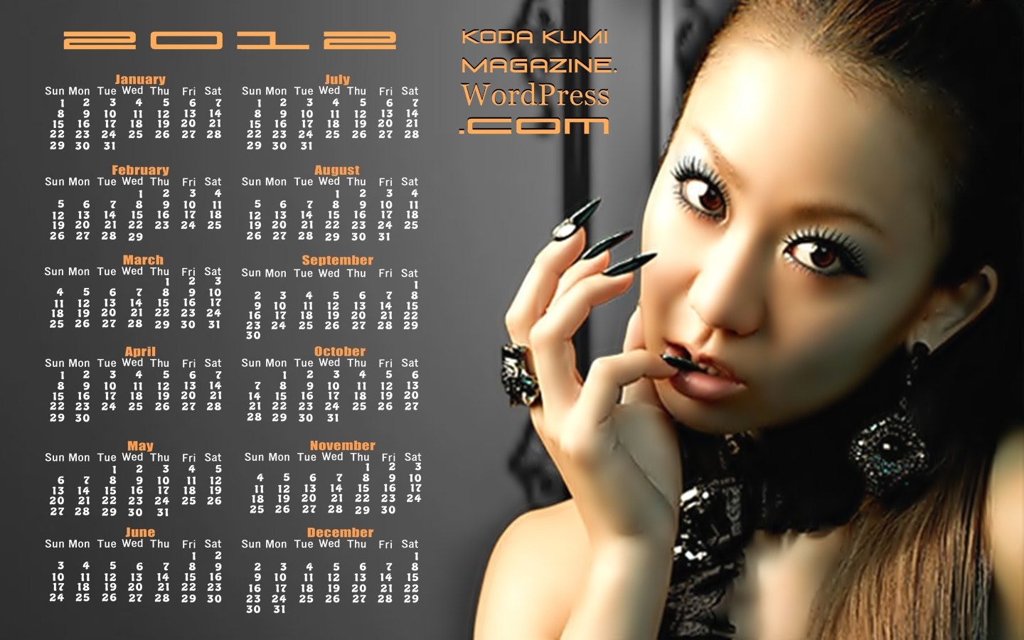 Wallpaper Brazil Girl Wallpaper Calendar 2012 倖田來未 雑誌