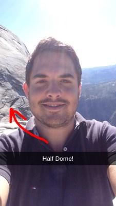 Half Dome selfie