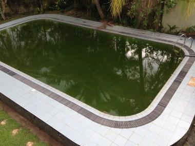 Ons mooie zwembad zonder pomp :-(