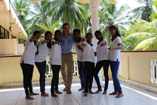 Ik met enkele van mijn studenten