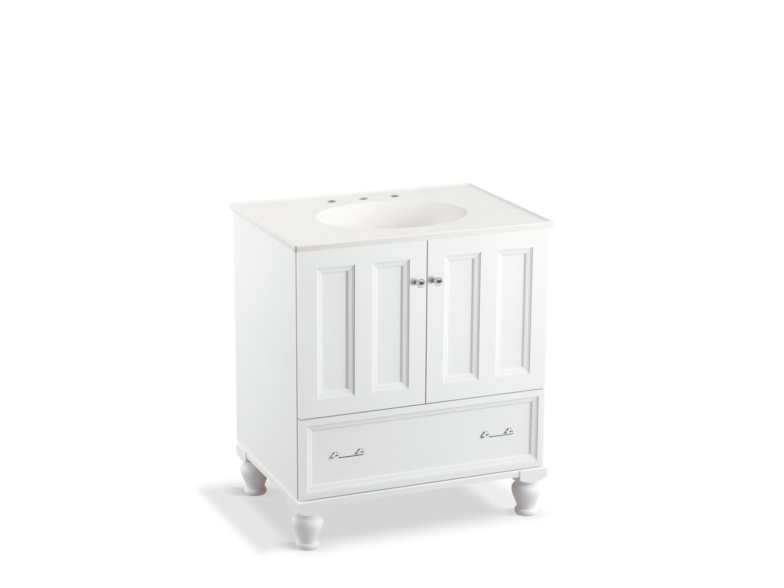 30 Vanity With Drawers K 99516 Lg Damask 30 Inch Vanity With Legs 2 Doors 1 Drawer