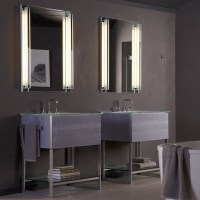 Frameless Mirrored Medicine Cabinet Recessed   Review Home Co
