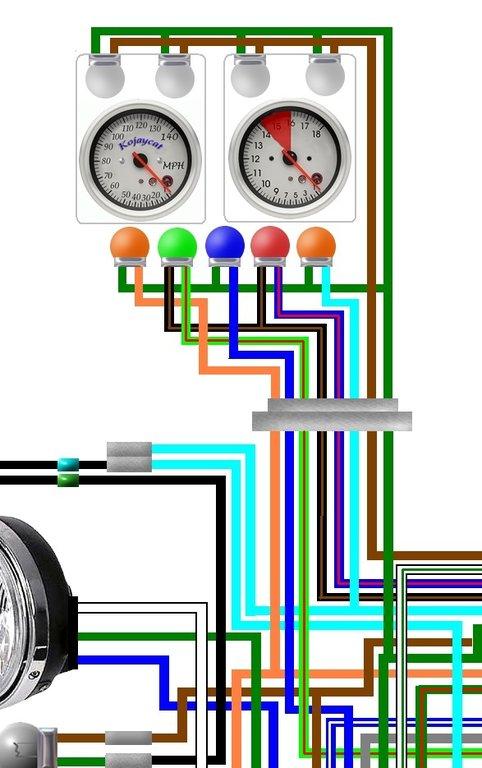 Honda CB750F 1981 - 1982 USA Spec Colour Wiring Harness Diagram