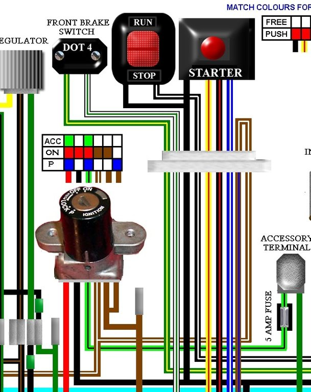Interstate Goldwing Usa Spec Full Colour Laminated Wiring Diagram
