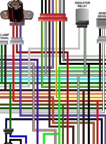 Honda VTX1300 Colour Motorcycle Wiring Loom Diagrams