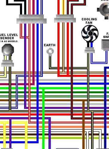 Kawasaki GPZ500S / ER5 Colour Electrical Wiring Diagrams
