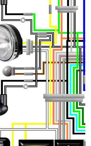 Suzuki GS400, GS425, GS450 Laminated Wiring Circuit Loom Diagram