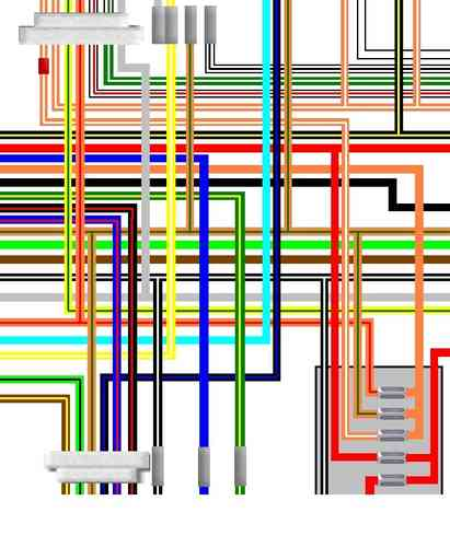Suzuki GSX750 GSX1100 Katana UK Spec Colour Wiring Loom Diagram