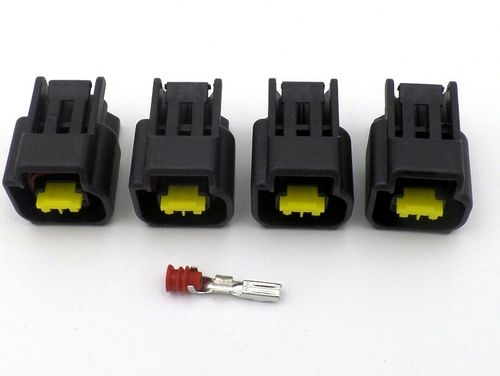 4 x 2 Way Nippon Denso Stick Coil Wiring Harness Connector Plugs