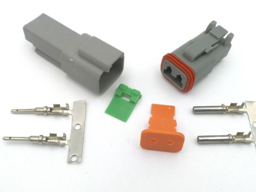 Deutsch DT series sealed multiway connectors with IP68 rating