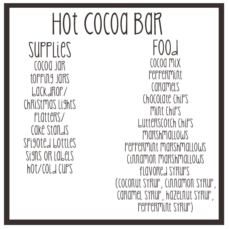 hot cocoa bar - oath of office template