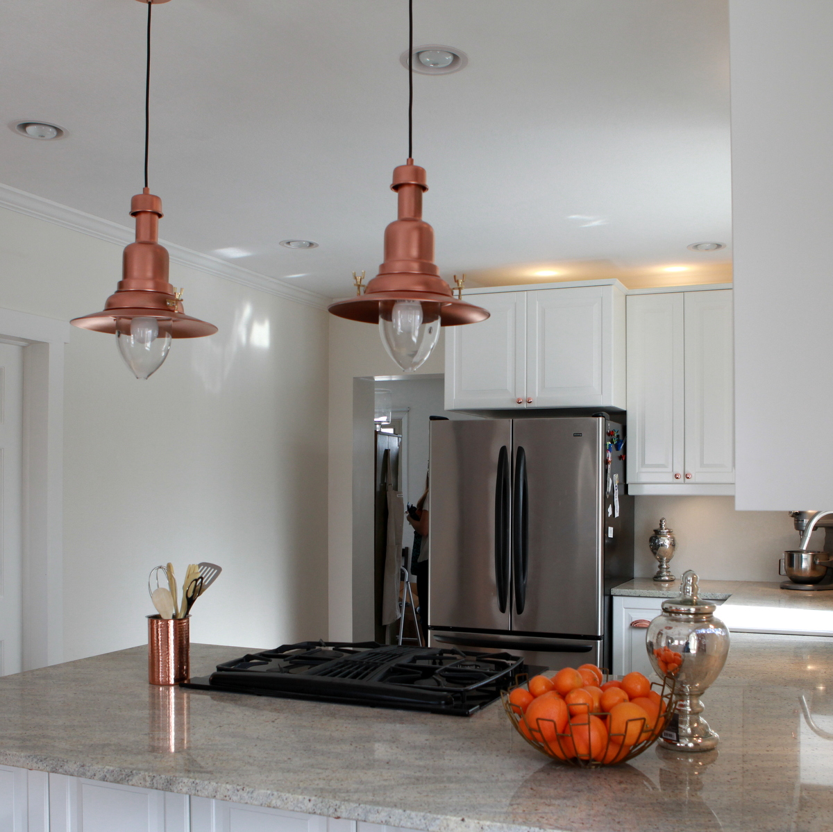 copper barn light ikea hack ikea kitchen lighting IKEA hack how to turn an OTTAVA light into a copper barn pendant light
