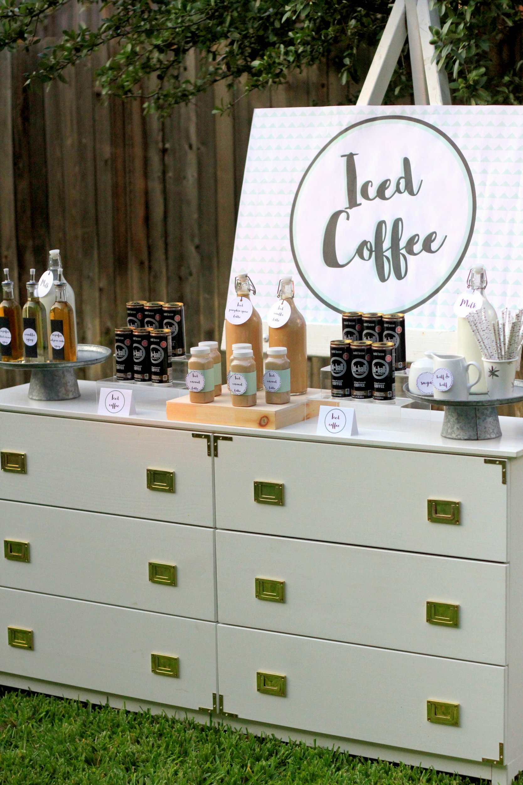 Coffee Bar Ideas For Party Party Food Ideas Iced Coffee Bar