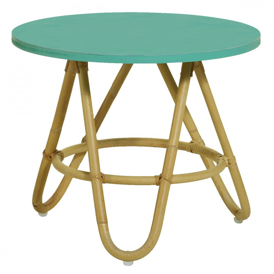 Table De Salon En Rotin Table Basse En Rotin Diabolo Plateau Aqua