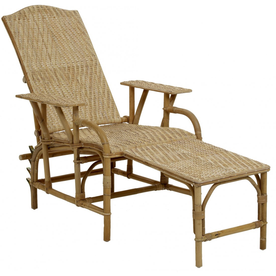 Chaise Longue Rotin Ancienne Chaise Longue En Rotin Naturel Inclinable