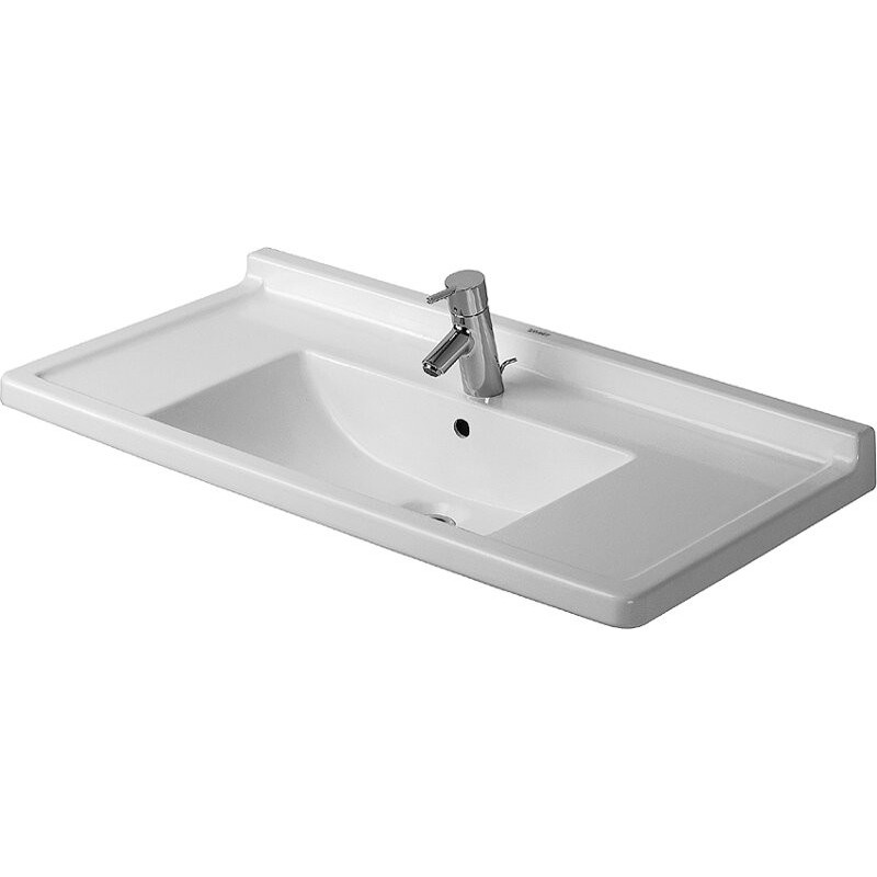 Buy Duravit 0304800000 Furniture Washbasin 85 Cm Starck 3 White At Discount Price At Kolani - Duravit Waschtisch Starck 3