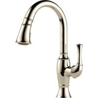 Buy Brizo 63003LF Single Handle Pull-Down Kitchen Faucet ...