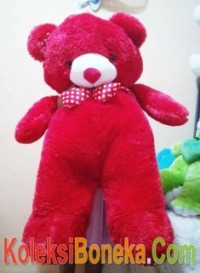 boneka teddy bear super jumbo warna merah