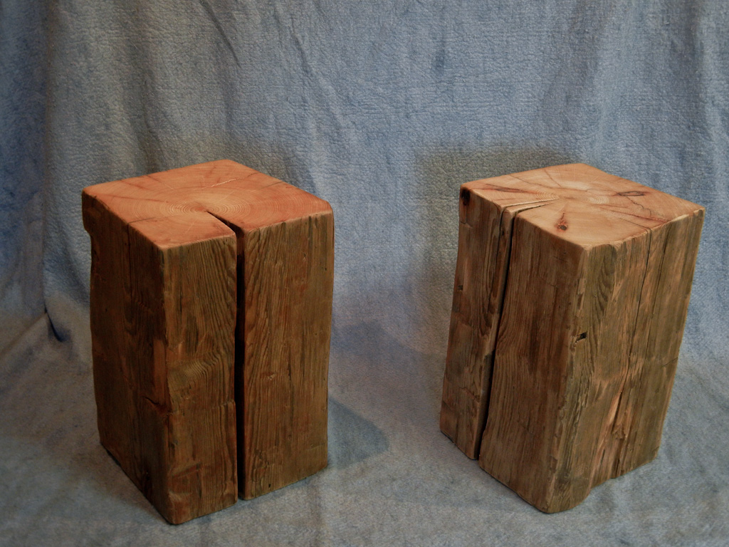 Wood Block End Tables Koletic Designs Samples From Our Showroom Available For