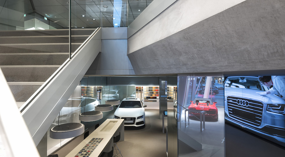 Germany S First Virtual Showroom Audi City Berlin Opens - Showroom Berlin