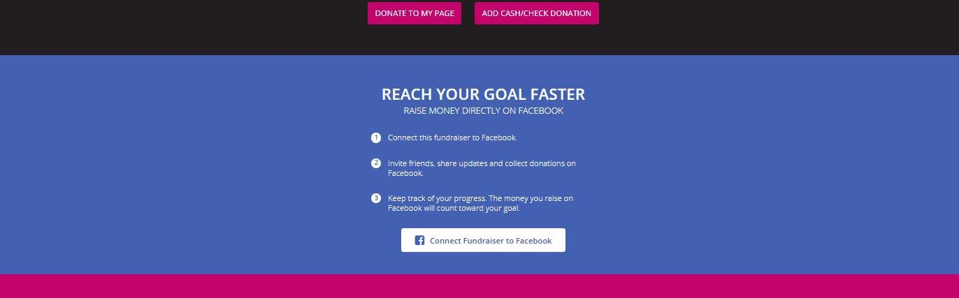 How to Connect your Race for the Cure Fundraising Center to Facebook