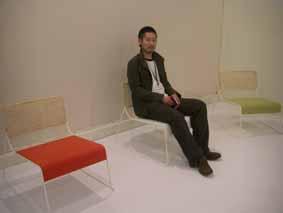 2007年ミラノサローネの小林さんのブースにて