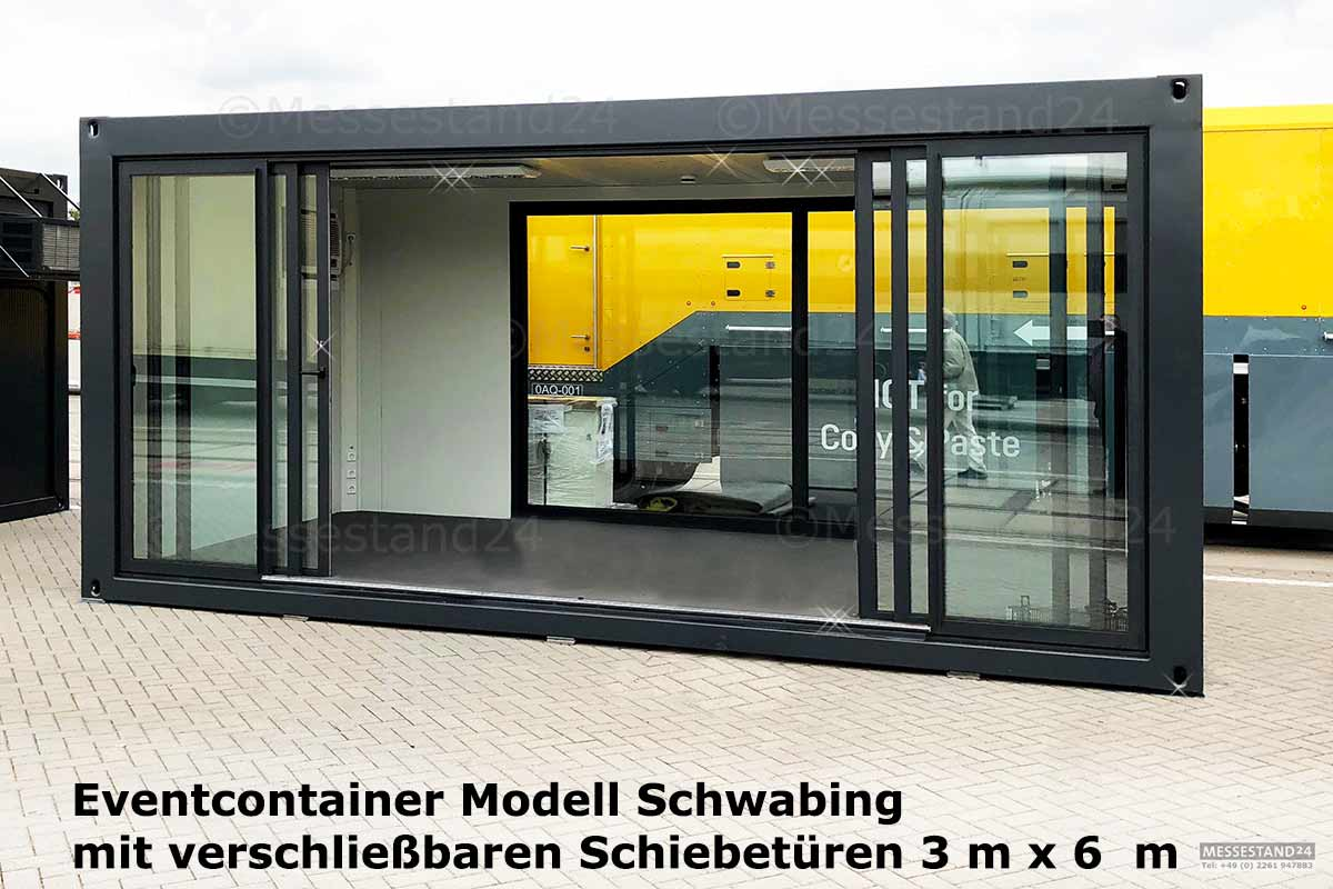 Schwarz Container Eventcontainer 1 Messecontainer Für Events Ausstellungen