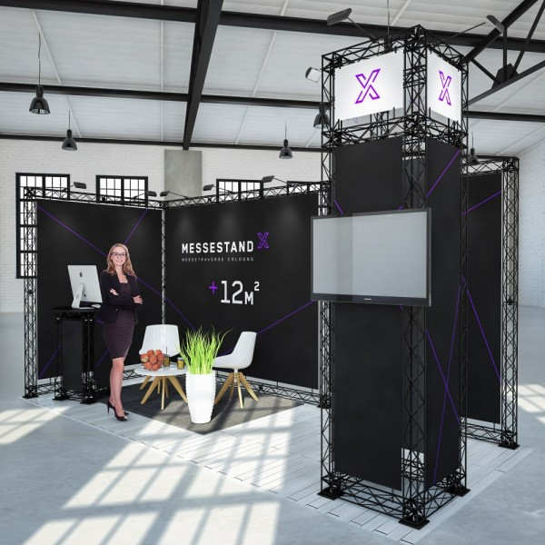 Led Leucht Messestand Traverse Cologne 12 M² - Eckstand