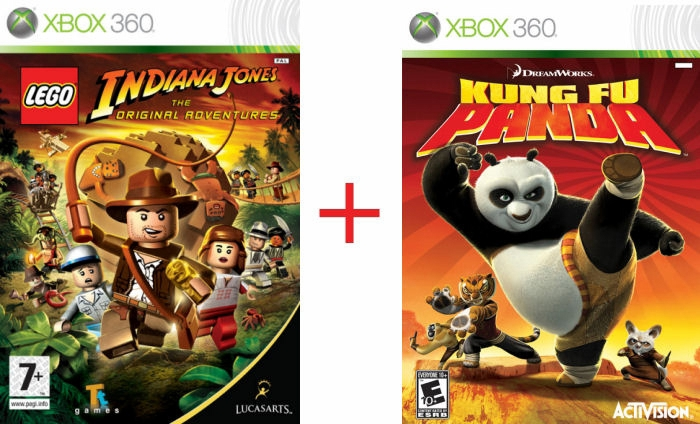Billig Iphone 5s Køb: Bundle: Lego Indiana Jones + Kung Fu Panda (x360