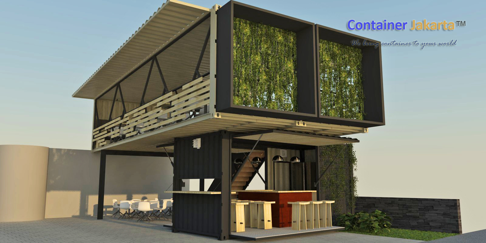 Desain Outlet Cafe Container