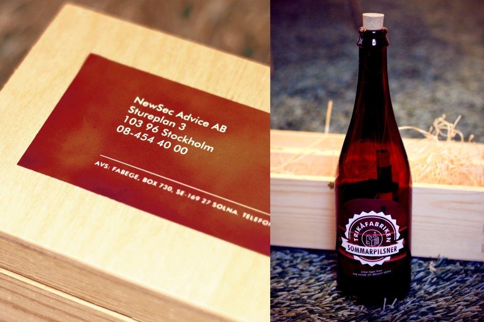 Inbjudan i form av en flaskpost.