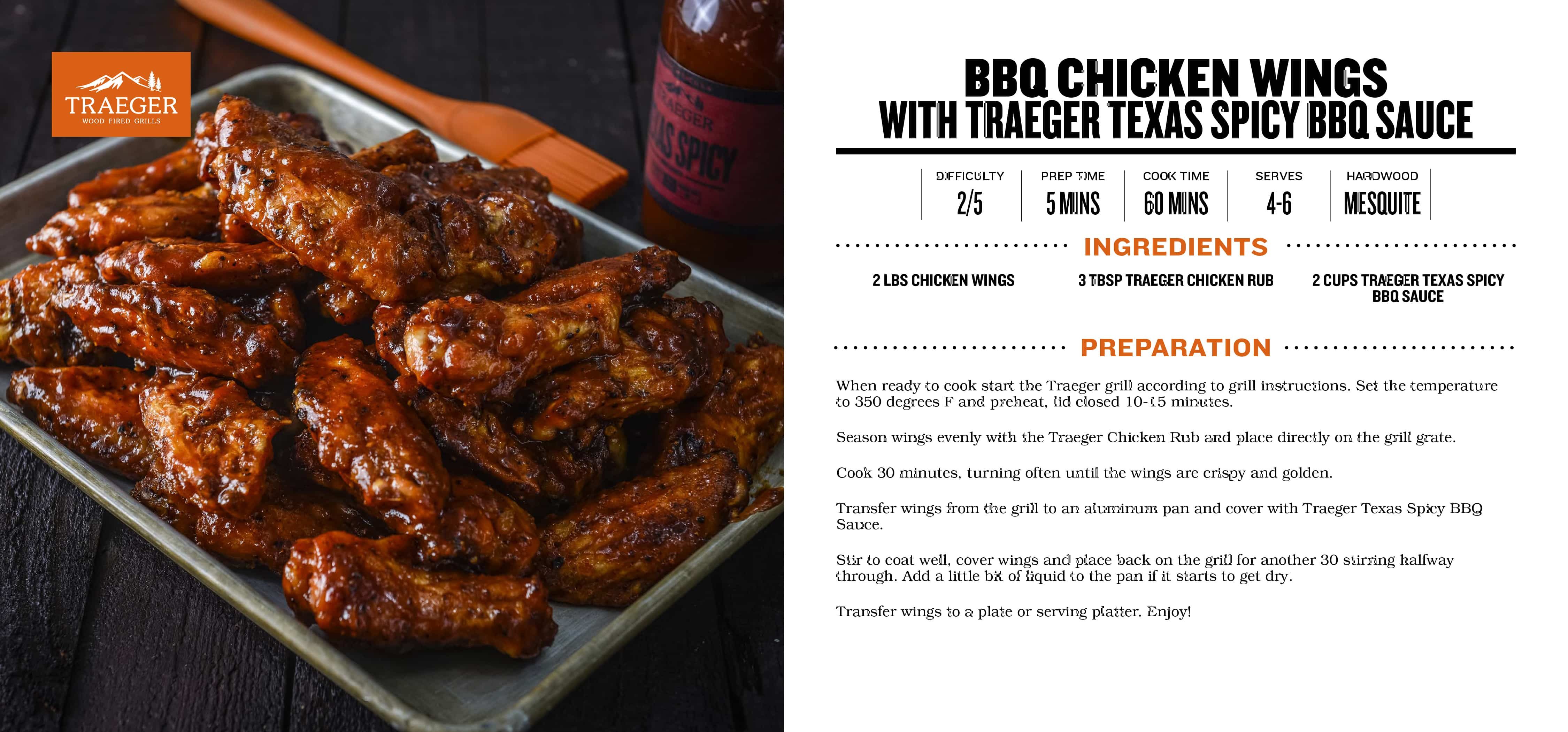 Kool Bbq Bbq Chicken Wings With Traeger Texas Spicy Bbq Sauce