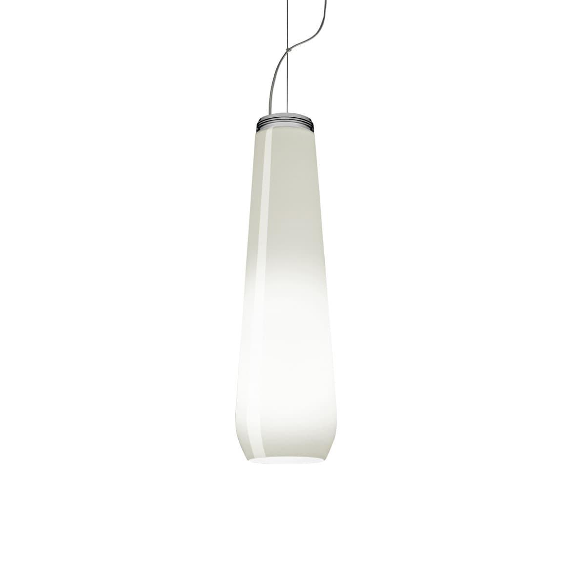 Wit Glas Foscarini Diesel Glass Drop Hanglamp Wit