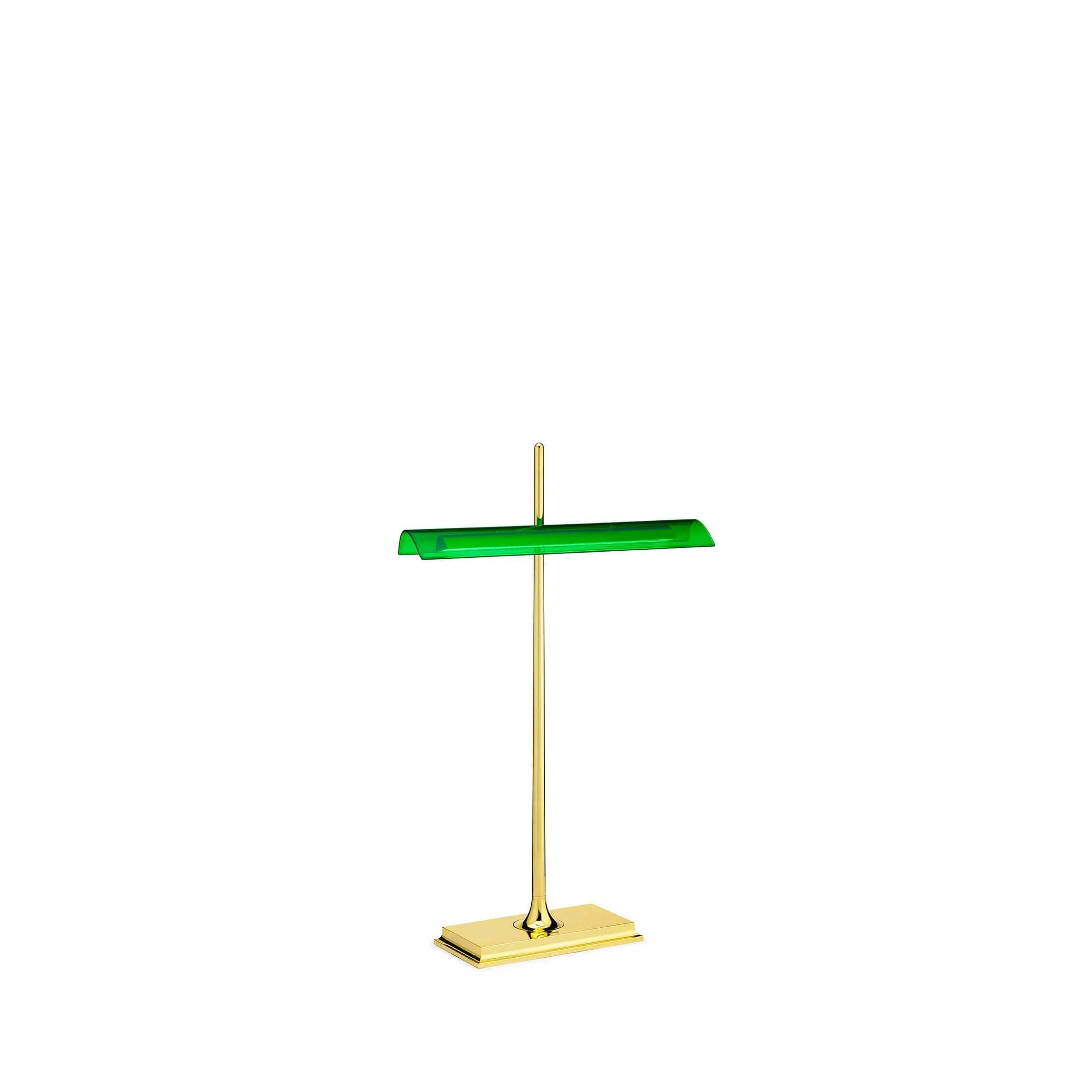 Tafellamp Groen Flos Goldman Led Tafellamp Messing Groen