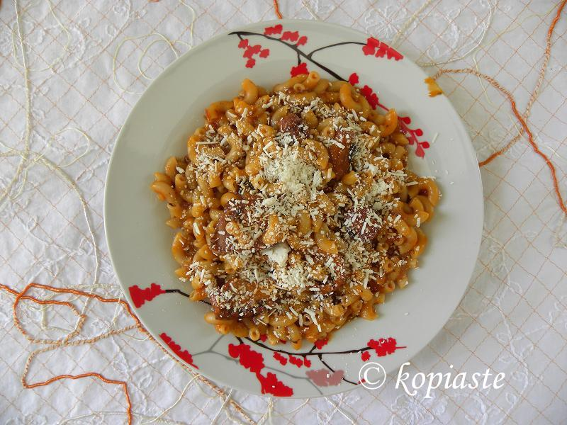 Octopus with ditali pasta