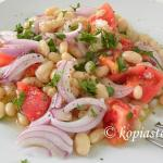 A different Greek Salad with Black Eyed Peas