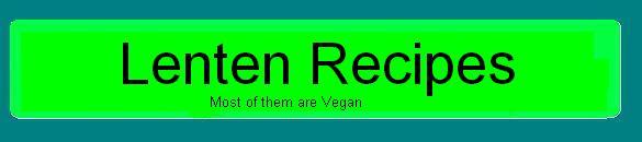 Colour Green Lenten Recipes