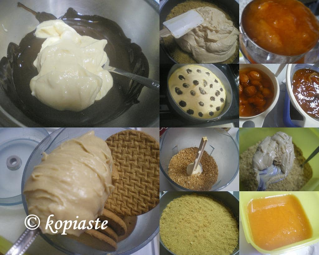 Collage heesecake Apricot