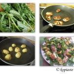 Rocket & Peppers Salad with Feta and Mandarin Vinaigrette