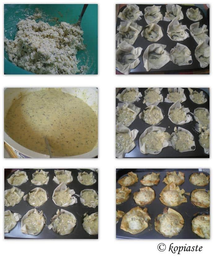 collage halloumi muffins