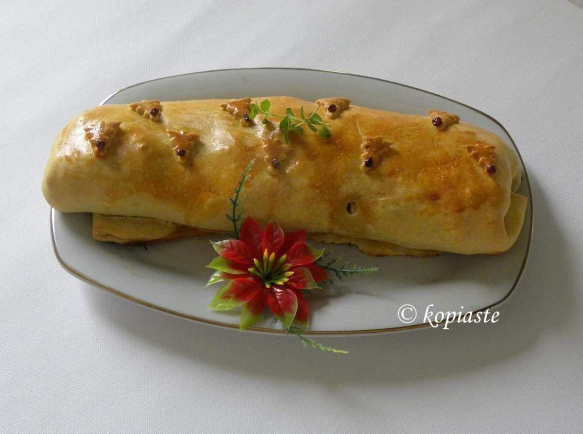 Turkey Pie Roulade
