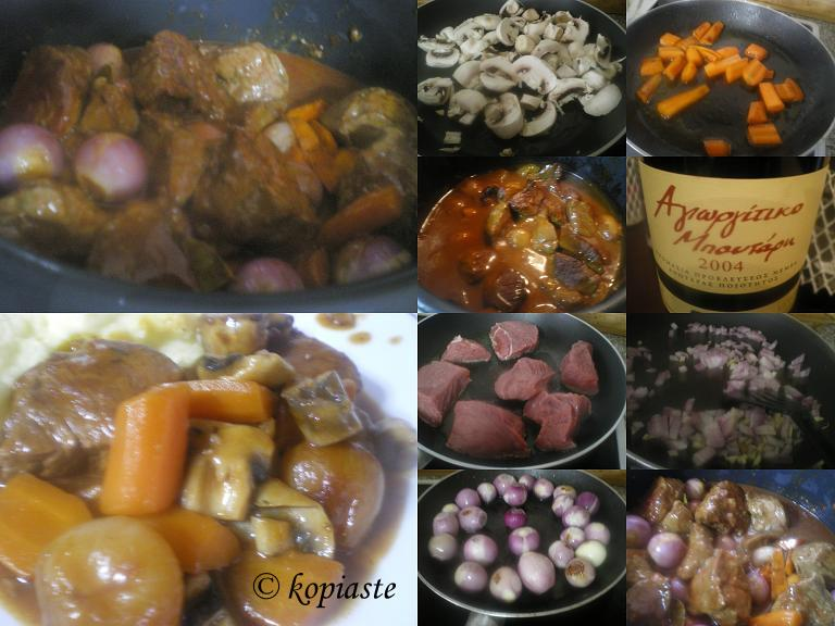 Collage Boeuf Bourguignon